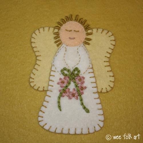 Primitive Angel Applique Block Wee Folk Art