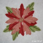 Advent Poinsettia Applique Block
