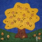 Autumn Oak Applique Block