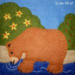 Bear in Water Applique Block