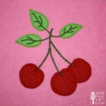 Cherry Cluster Applique Block