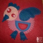 Crazy Little Bird Applique Block