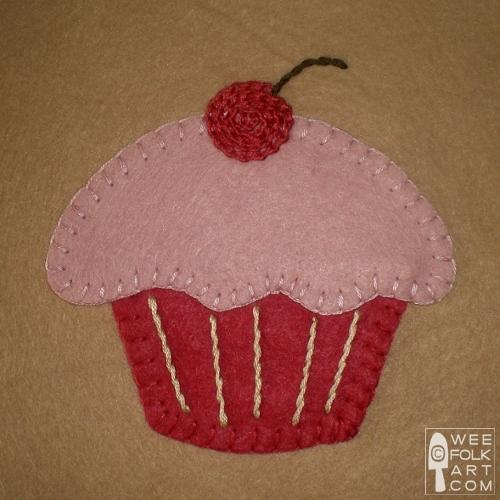 Cupcake Block Applique Wee Folk Art