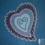 Curved Heart Applique Block