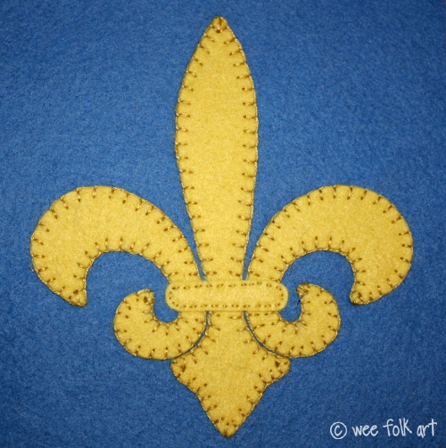 Fleur De Lis Applique Block Wee Folk Art