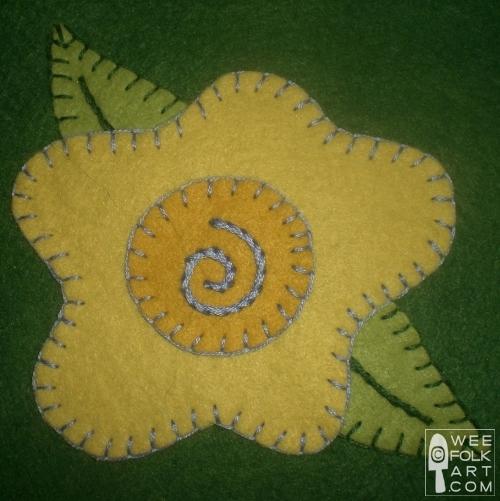 Flower Applique Block