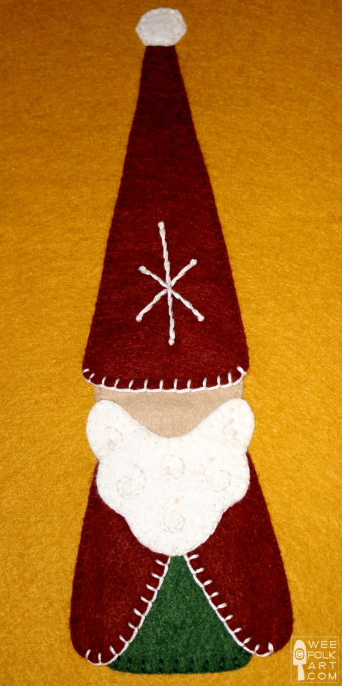 Gnome For The Holidays Applique Block Wee Folk Art