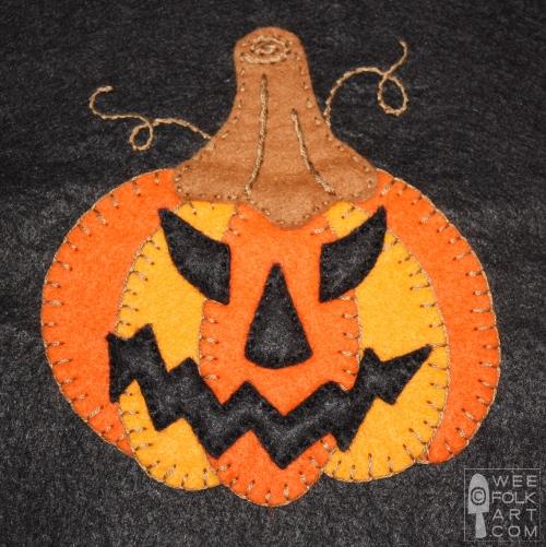 jack-o-lantern applique pumpkin applique halloween