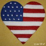 Patriotic Heart Applique Block