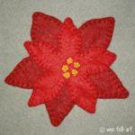 Poinsettia Applique Block
