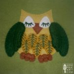 Slumbering Owl Applique Block