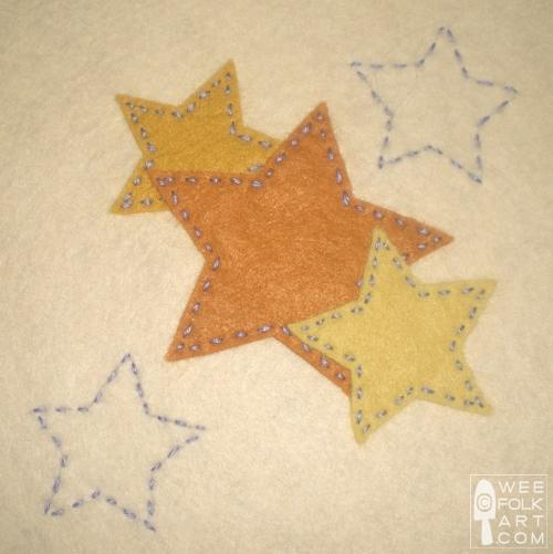 Star Trio Applique Block