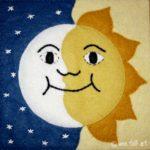 Sun and Moon Applique Block