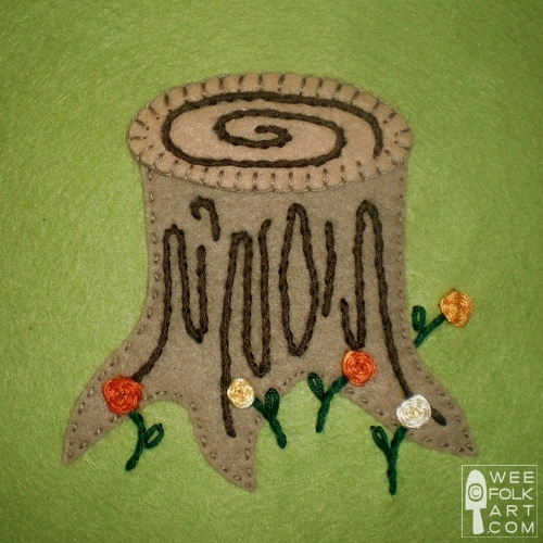 Tree Stump Applique Block