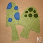Wee Folk Art Mushrooms Applique Block