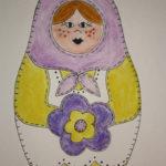 Posy Peasant Babushka Doll