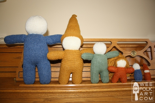 Basic Knit Doll In 6 Sizes Wee Folk Art