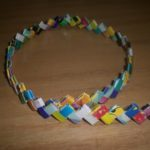Making Gum Wrapper Chains with Used Gift Wrap