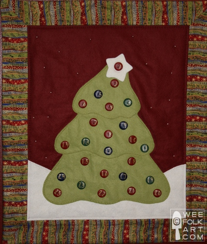Advent Tree Count Down Calendar Pattern