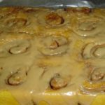 Amish Pumpkin Cinnamon Rolls with Caramel Frosting