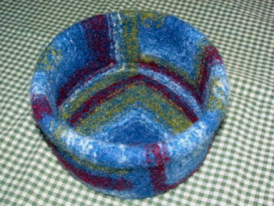 Wool Felted Mitered Bowls Directions Wee Folk Art