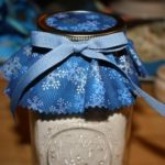 Calico Mason Jar Cover