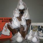 Gourd Ghost Sculpture Halloween Decoration
