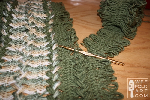 Knitting Hairpin Lace Pattern : Hairpin Lace Part 2 of 4 - Crocheting the Strips   Wee Folk Art