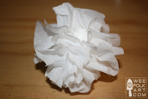 Kleenex carnations wee folk art if you would like to make colorful flowers try using 3 4 sheets of tissue paper cut into 8 squares make as described above mightylinksfo