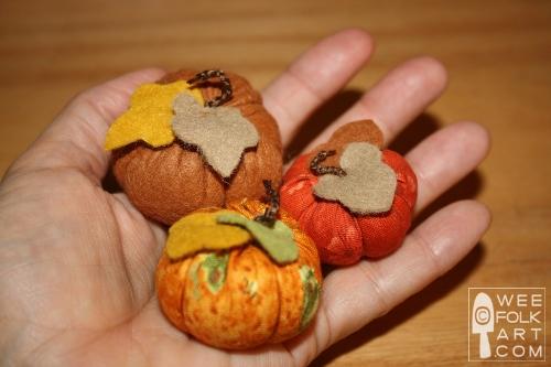 Mini pumpkins wee folk art