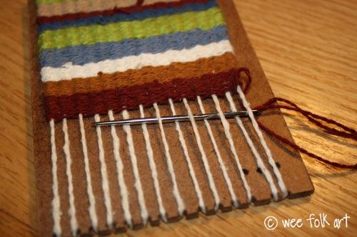 Weaving a Mini Blanket