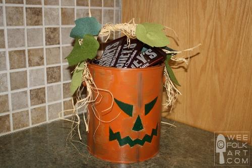 Paint Bucket Jack-O-Lantern Candy Bucket