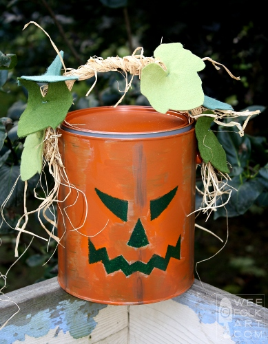 Paint Bucket Jack-O-Lantern Tutorial
