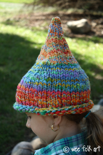 Pointed Pixie or Gnome Hat Knitting Pattern - Wee Folk Art