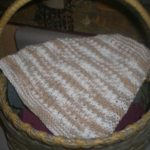 Rope Stitch Dishcloth Directions