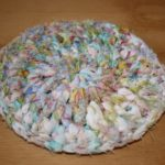 Spring Crocheted Rag Rugs for the Gnomes (or Coasters)