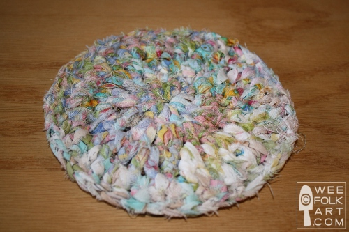 Spring Crocheted Rag Rugs For The Gnomes Or Coasters Wee Folk Art