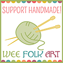 support handmade knitting button