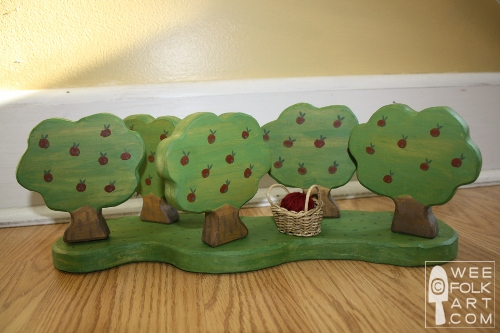wooden apple orchard toy tutorial