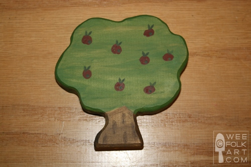 how to paint wooden apple tree toy