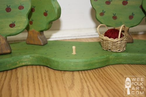 wooden base for wooden apple orchard