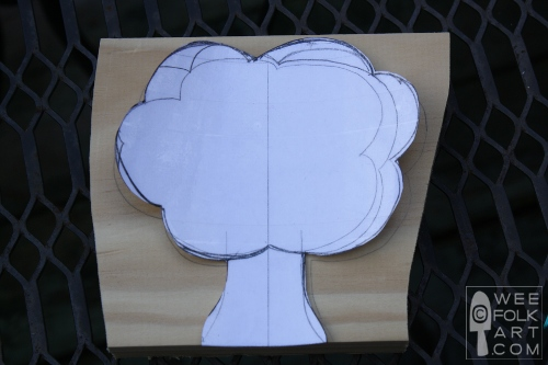 wooden apple tree pattern