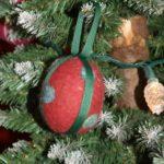 Felted Wool & Ribbon Ornament Balls