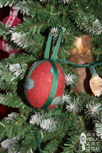 Felted Wool Ribbon Ornament Balls Wee Folk Art