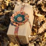 Autumn Gift Wrap with Flower Bow