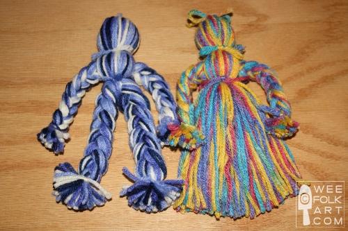 Pioneer Yarn Doll Directions Wee Folk Art