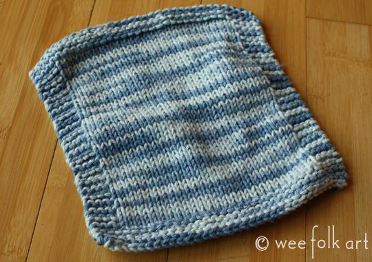 Newbie Knitting | Knit & Purl Wash Clothes - Wee Folk Art