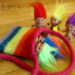 Little Treasures Rainbow Pouch Felted Knitting Pattern