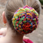 Snowflake Snood Knitting Pattern Bun Cover