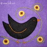 Black Bird Applique Block